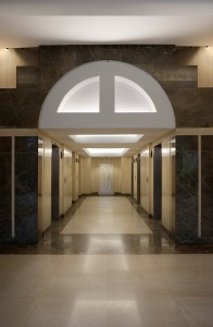 Elevator hall from the Xerox building in Montreal - Click for full size picture